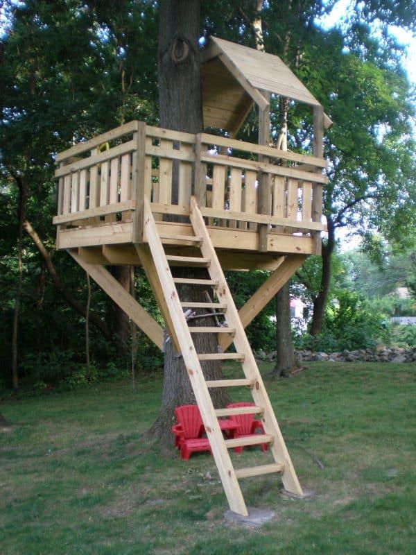 simple treehouse ideas