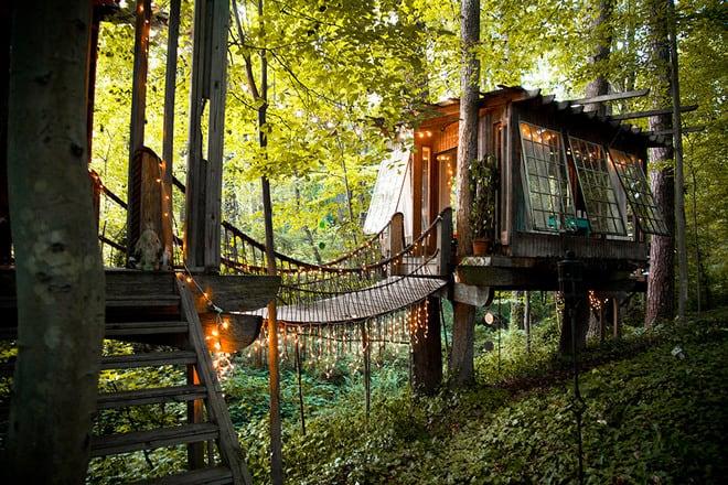 treehouse bridge ideas