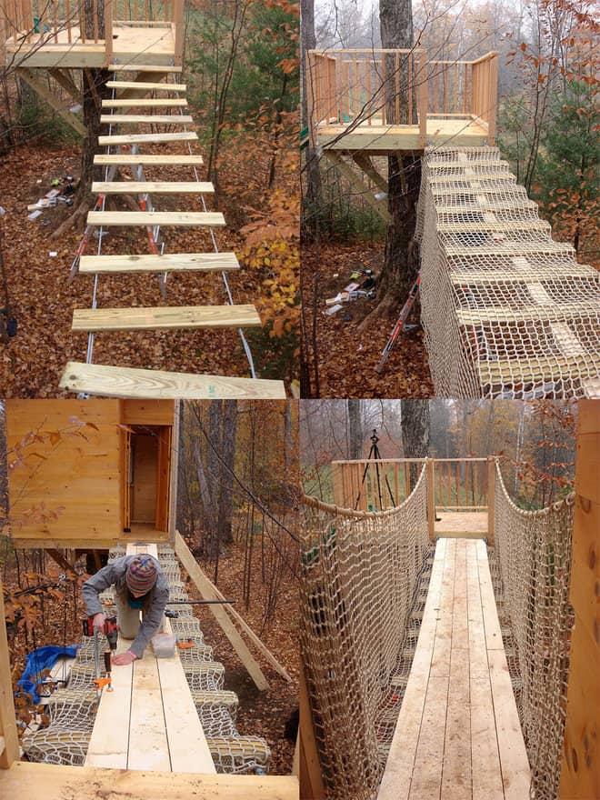treehouse suspension bridge