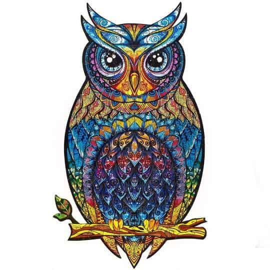 wooden jigsaw puzzle owl