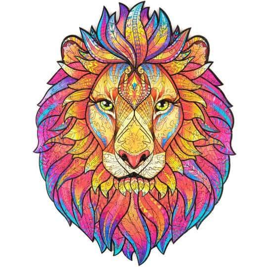 wooden puzzle lion