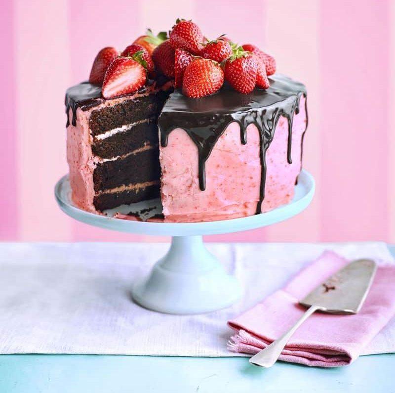 Choco-Berry Surprise Cake