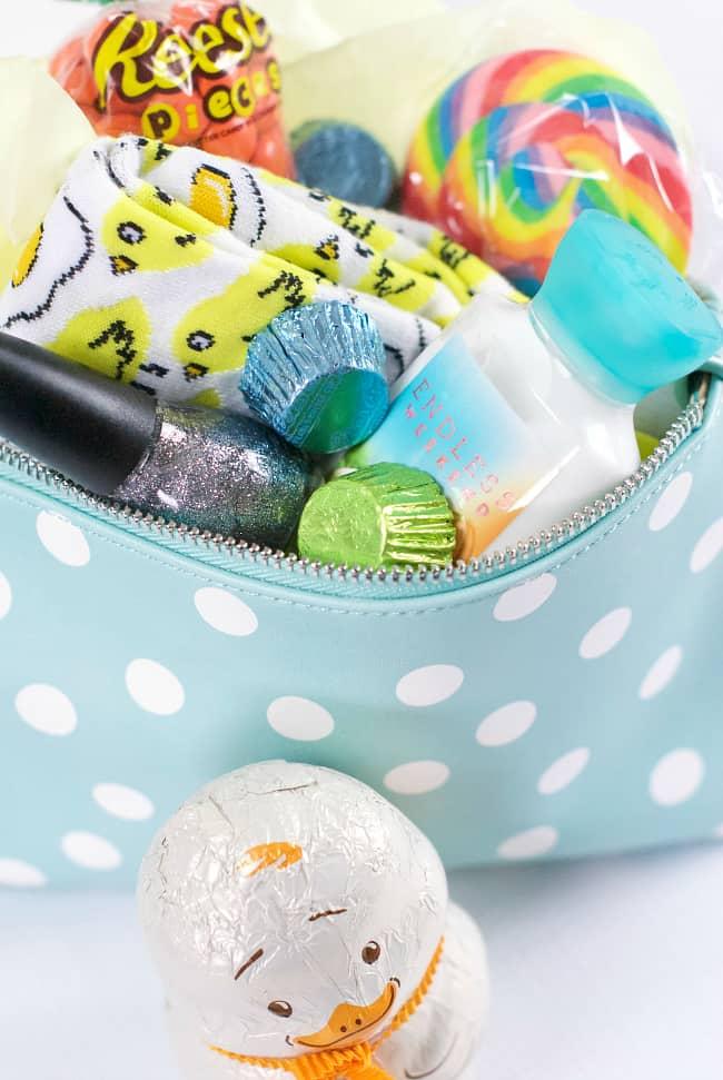 Makeup Bag Easter Basket For Tween Girl