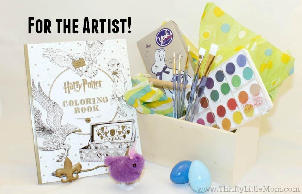 Art Themed Easter Basket Gift Idea