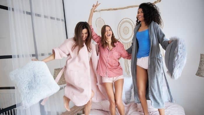 sleepover pyjama party