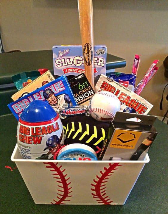 Baseball-Themed Easter Basket For Teen Boys
