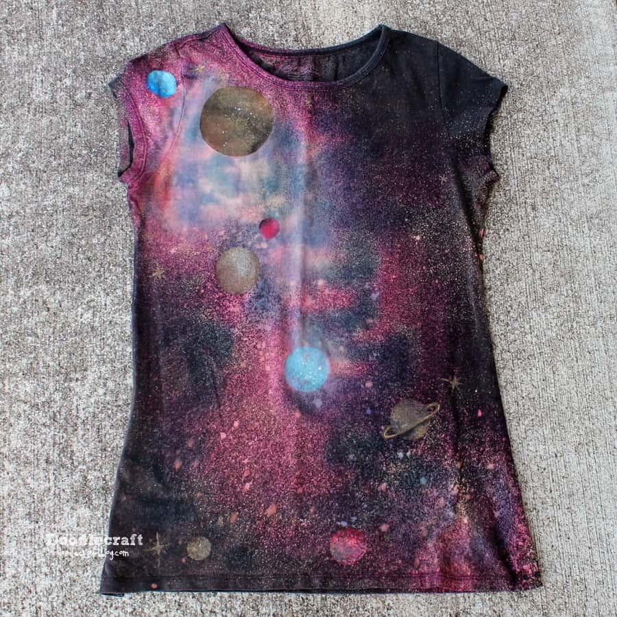 galaxy tie dye tshirt