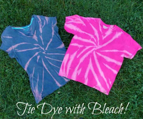 Pink and blue reverse tie dye