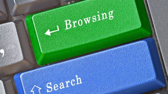 search and browsing history