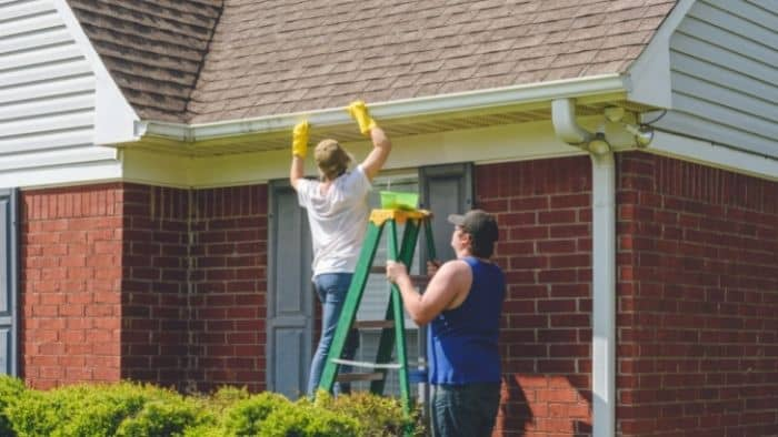 chores for teenagers - gutters